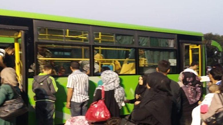 دفعة من النازحين غادرت معبر العبودية الى حمص وريفها