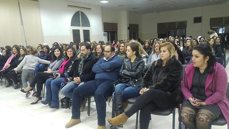 """""""النسائي التقدمي"""" استكمل حملة """"مش لعب ولاد"""" في باتر – الشوف"""