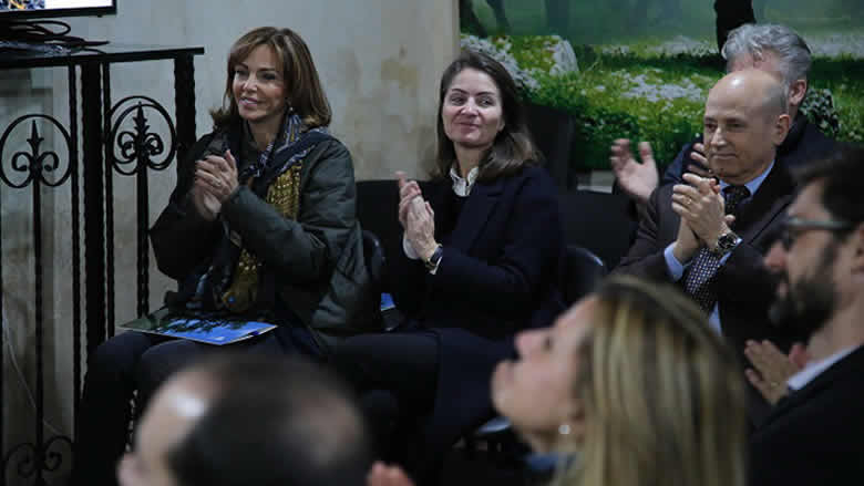 نورا جنبلاط ونجيم استقبلا سفيري الإتحاد الأوروبي وايطاليا في محمية أرز الشوف