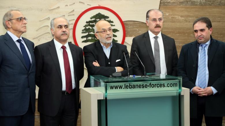 """""""اللقاء الديمقراطي"""" زار جعجع وشهيب: لتكن ولادة الحكومة """"عيديّة"""" لجميع اللبنانيين"""