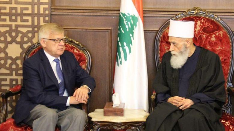الشيخ حسن التقي زاسبكين مجدداً دعوة روسيا لحماية وحدة سوريا