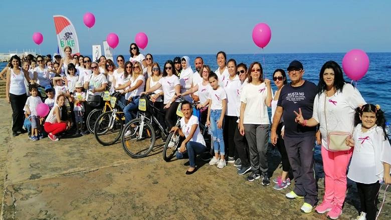 """مسيرة دراجات هوائية لـ""""النسائي التقدمي"""" - بيروت دعما للتوعية حول الفحص المبكر لسرطان الثدي"""