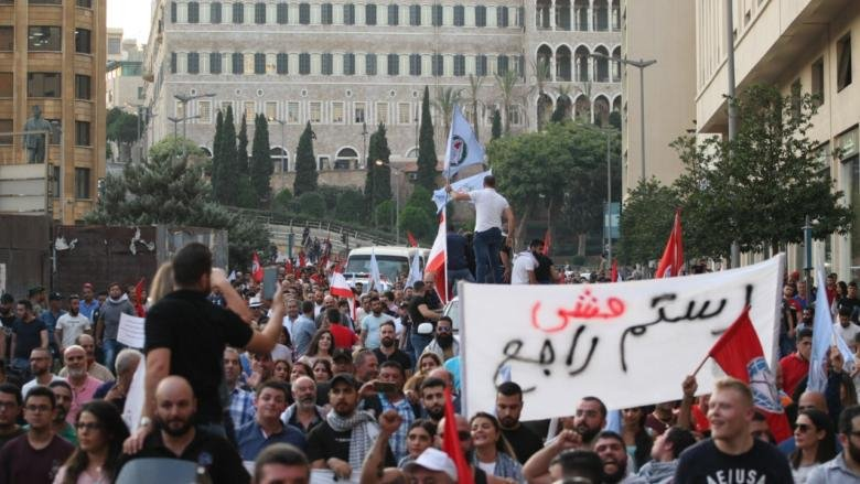 """مسيرة حاشدة لـ """"الشباب التقدمي"""" الى ساحة الشهداء... وأبو فاعور: آن الأوان ليقول لكم الشعب """"إرحلوا"""""""