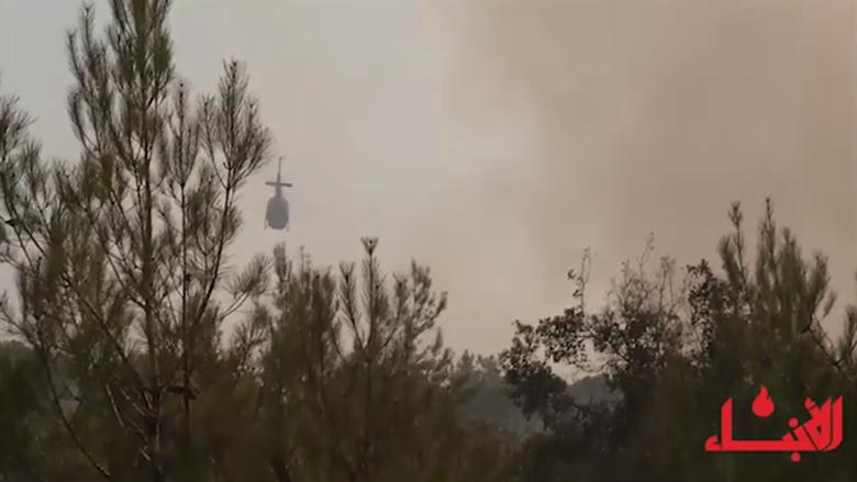#فيديو_الأنباء: النيران تلتهم الأحراج الخضراء... وتيمور جنبلاط يتحرك ميدانياً