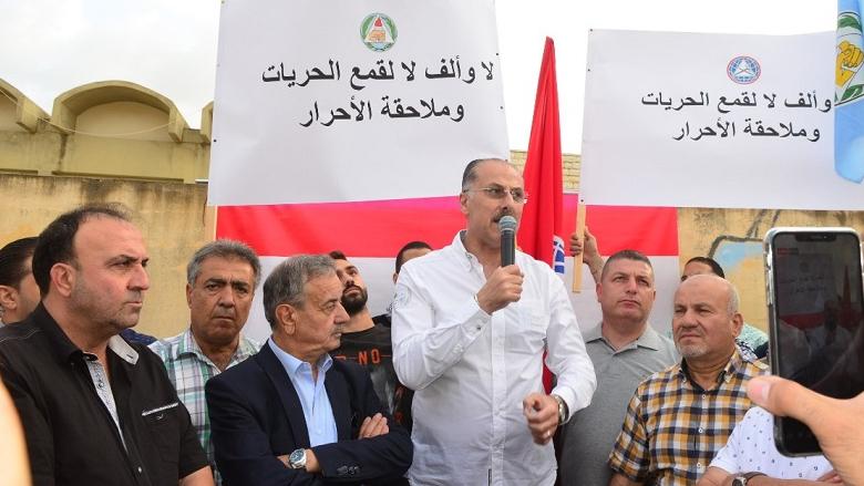 """عبدالله خلال اعتصام لـ """"التقدمي"""" في شحيم هذا العهد فشل وسيرحل"""