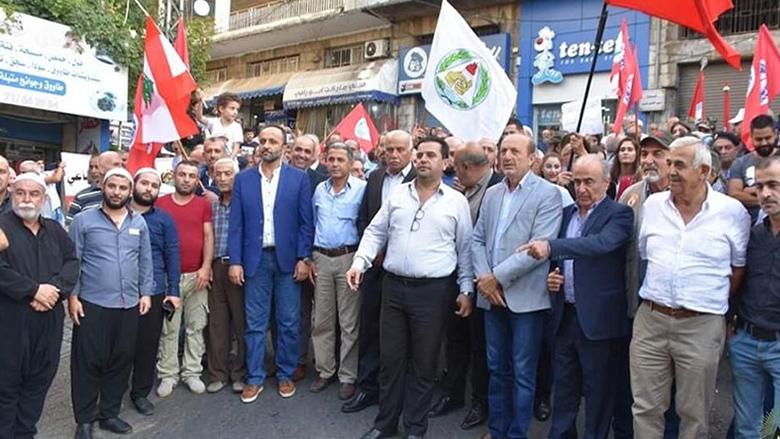 """اعتصام حاشد لـ """"التقدمي"""" في حاصبيا: عهد قوي على جيوب الناس"""