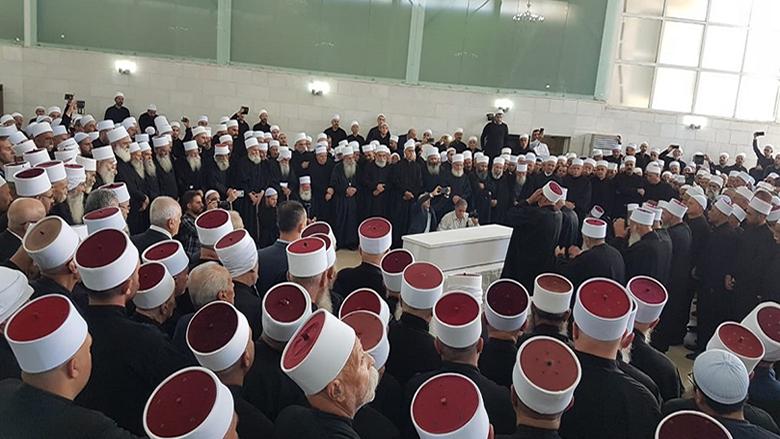 وداع جامع للشيخ أبو إبراهيم في راشيا بمشاركة شيخ العقل