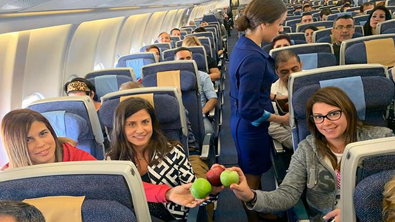بالصور: شركة الـMEA تدعم التفاح اللبناني على طريقتها