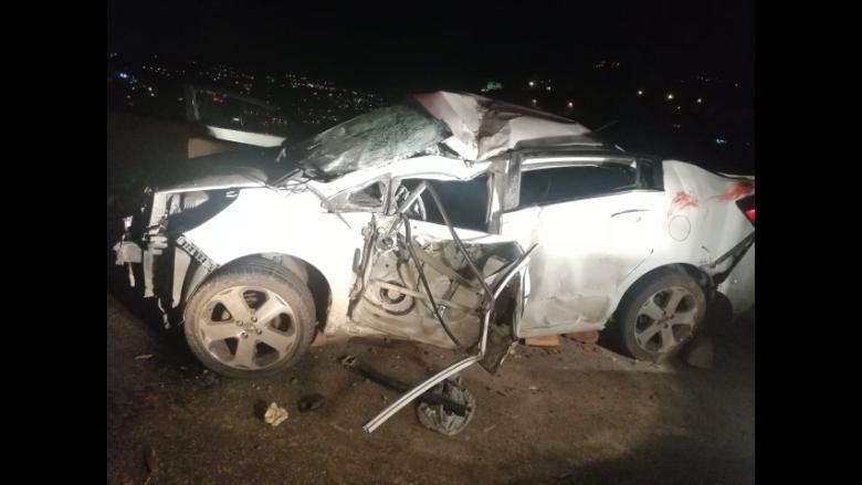 حادث سير مروّع على اوتوستراد صوفر