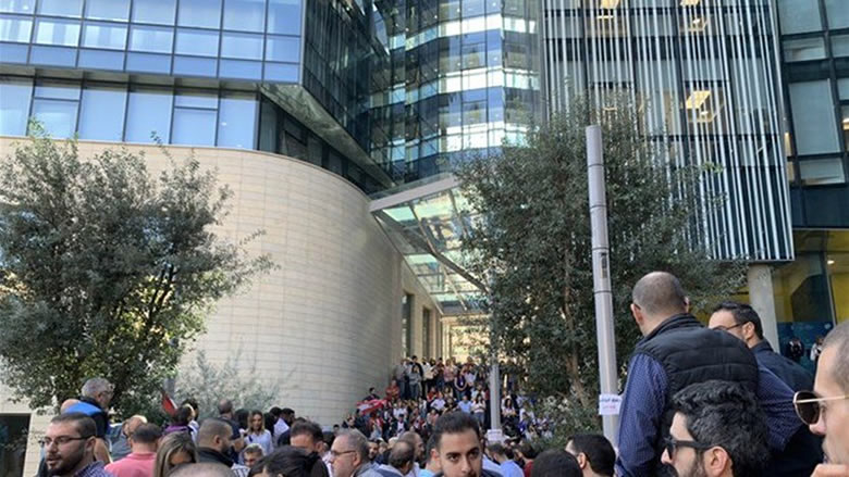 اعتصام حاشد لموظفي الفا وتاتش