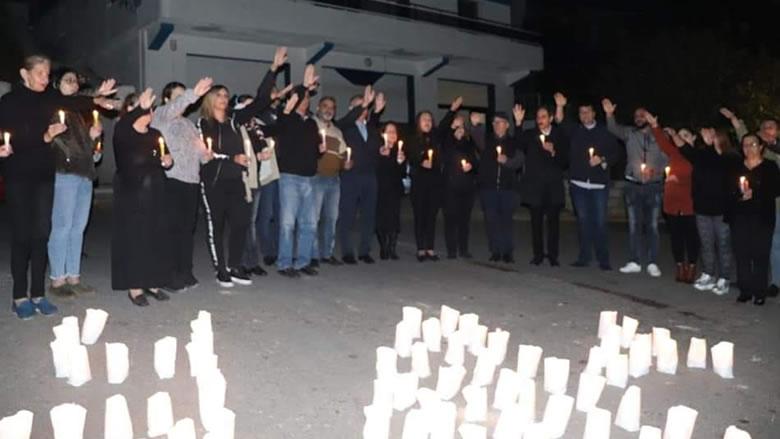 """إضاءة شموع في أسبوع الشهيد علاء أبو فخر لـ""""النسائي التقدمي""""- مزرعة الشوف"""
