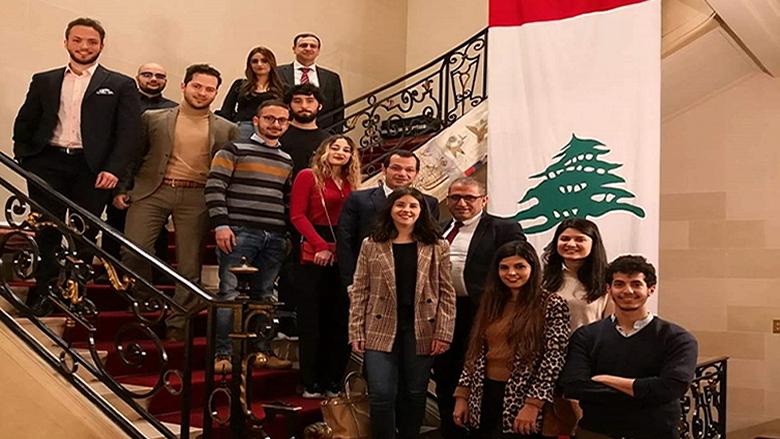 """لقاء جمع طلاب """"التقدمي"""" والسفير اللبناني في فرنسا"""