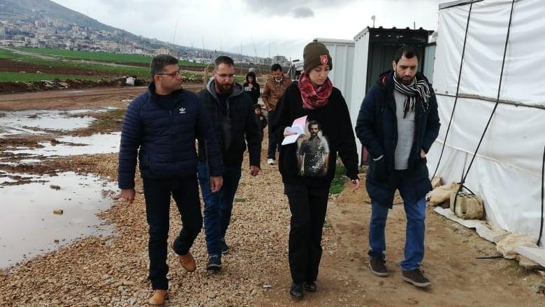 داليا جنبلاط زارت مخيمات اللاجئين السوريين