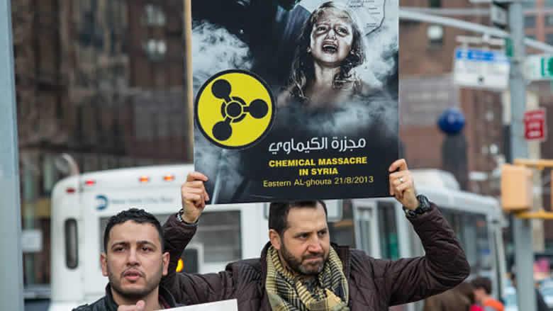 """""""واشنطن تايمز"""": استراتيجية النظام السوري للحرب... تجاوز الخط الأحمر بـ336 هجوماً كيماوياً"""