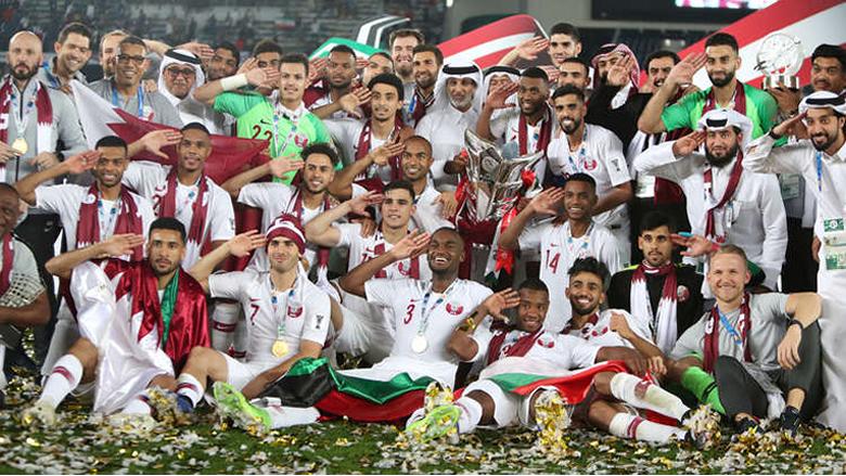 قطر تصدر طابعا بريديا خاصا بالمنتخب لمناسبة فوزه