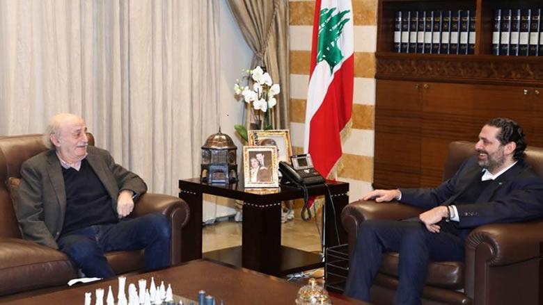 جنبلاط يلتقي الحريري: سنناقش مواضيع توافقية وخلافية بكل هدوء
