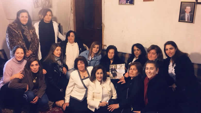 """زيارة شكر من """"النسائي التقدمي- جديدة بقعاتا"""" للمناضلة سلوى نصرالله"""