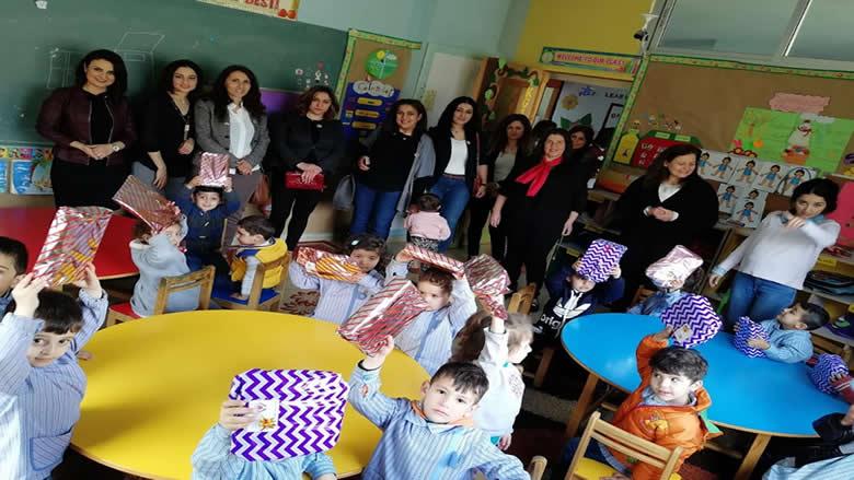 """""""النسائي التقدمي-الخلوات حاصبيا"""" وزع الهدايا بمناسبة عيد الطفل"""