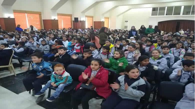 """1500 طفلا على مسرح """"الكشاف التقدمي"""" في راشيا برعاية اتحاد جبل الشيخ"""