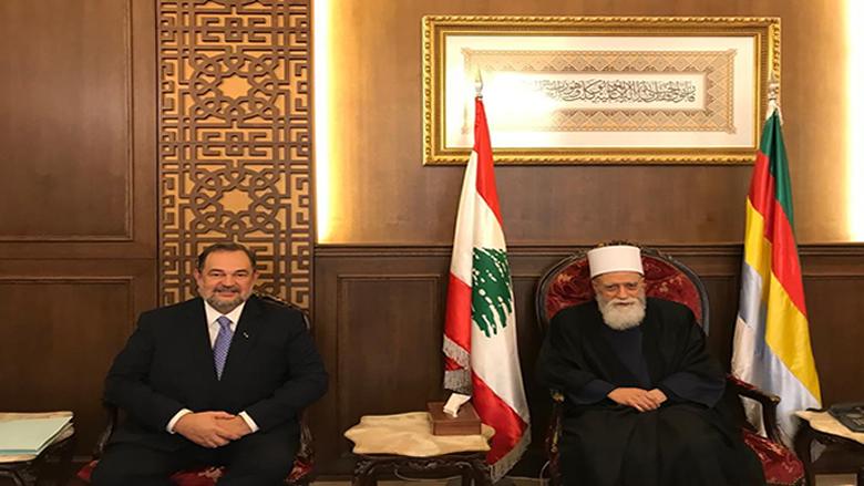 الشيخ نعيم حسن يستقبل السفير البرازيلي في لبنان