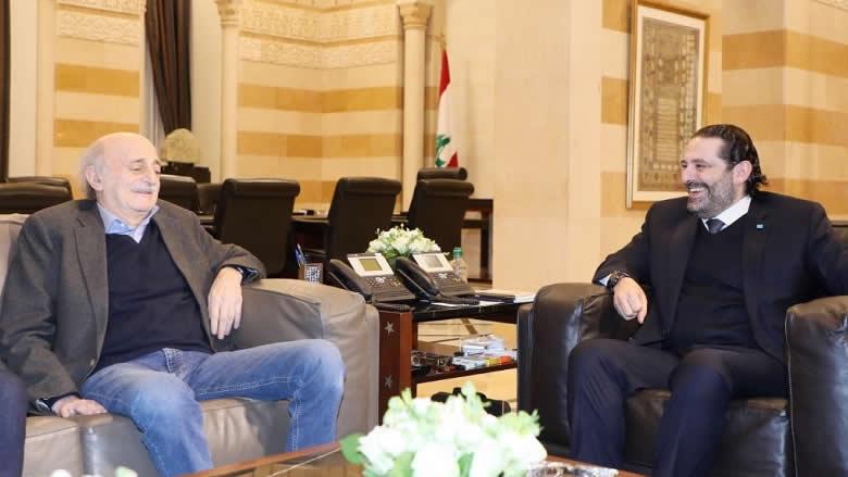 لقاء بين الحريري وجنبلاط في السراي الحكومي