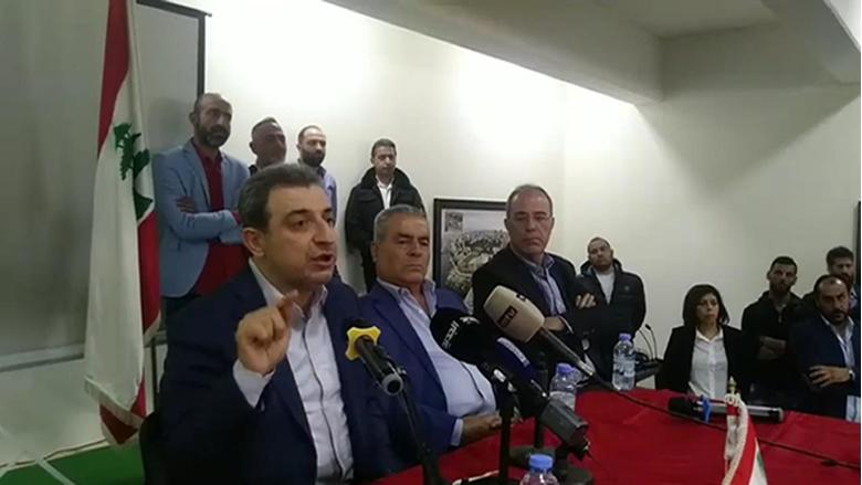 إعتصام حاشد في بلدية عين دارة... أبو فاعور: لا لعودة سورية بالكسارات!