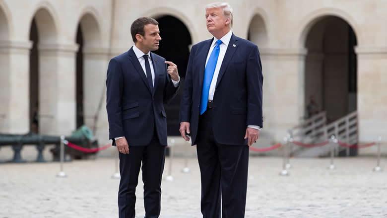 """ماكرون نصح ترامب بمراعاة """"الخصوصية اللبنانية"""""""