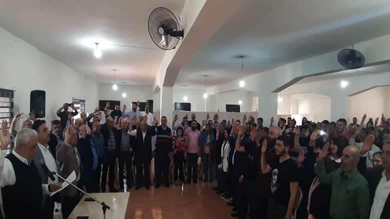 """قسم يمين حزبي لـ 165 منتسباً جديداً إلى """"التقدمي"""" في معتمدية العرقوب"""