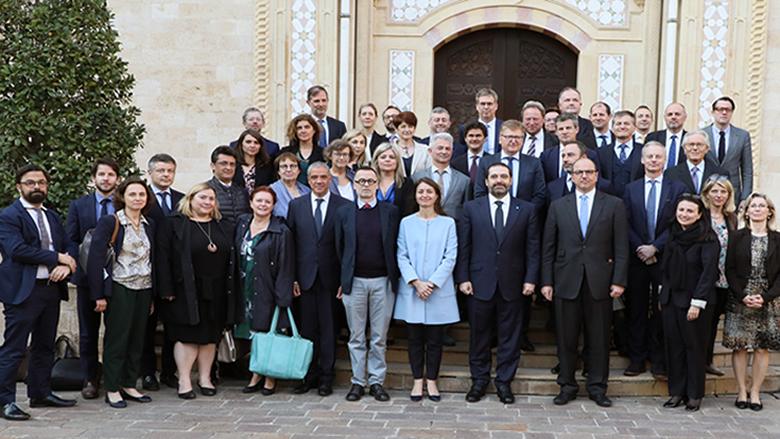 الحريري امام سفراء الاتحاد الأوروبي: لبنان ملتزم النأي بالنفس