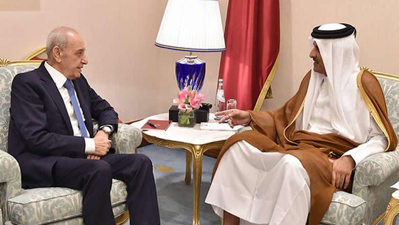 لقاء برّي وأمير قطر: بحث في حق إعطاء الإقامة للبنانيين
