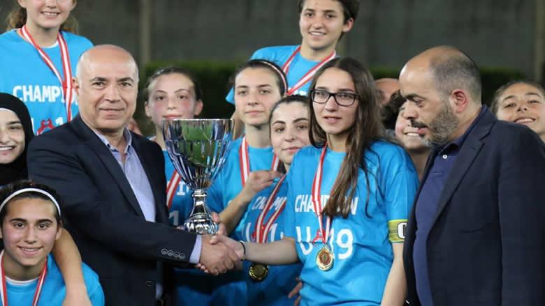 الاخاء الاهلي يحرز بطولة لبنان للشابات