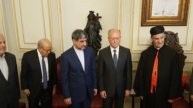 السفير الايراني من بكركي: صفير كان شخصية مرموقة