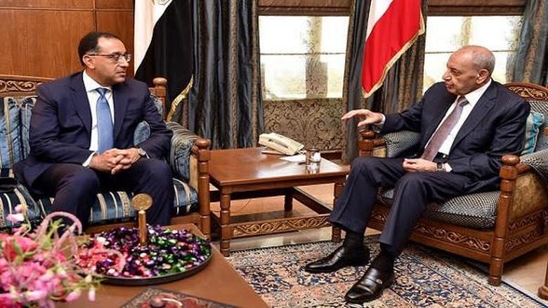 رئيس الوزراء المصري من عين التينة: مصر مستمرة بدعم لبنان