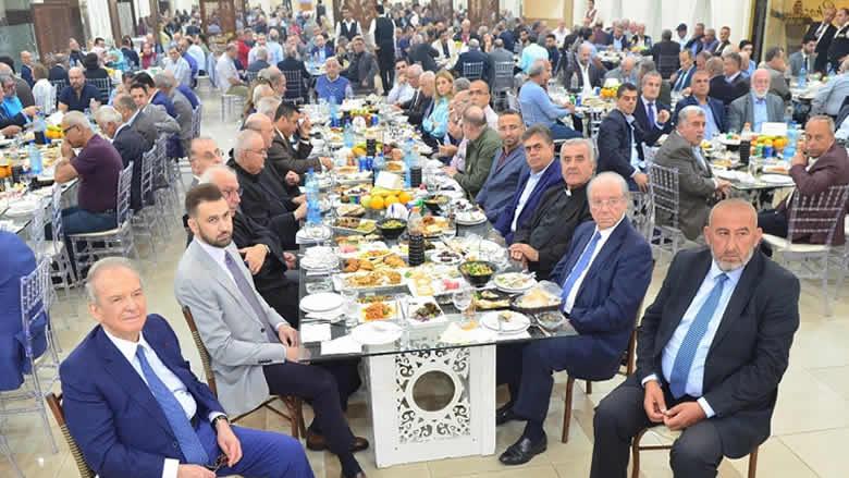 """الإفطار السنوي لهيئة الخدمات في """"الاقليم"""" بمشاركة جنبلاط"""