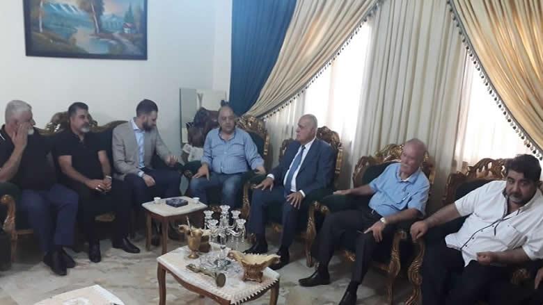 جولة تعاز للنائب جنبلاط في دميت الشوف