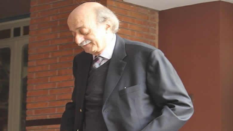 جنبلاط تلقى برقية تعزية بزين الدين من غليون وخنيفس ورئيس جامعة البلمند
