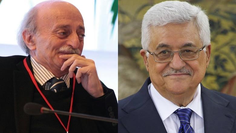 عباس يتصل بجنبلاط مشيداً بمواقفه من قضية فلسطين