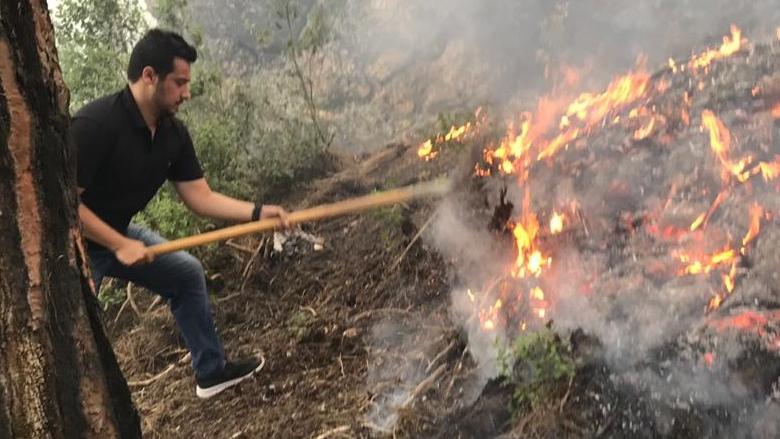 """""""التقدمي""""- الإقليم يشكر رئيس الأركان لمساهمة الجيش في إخماد النيران"""