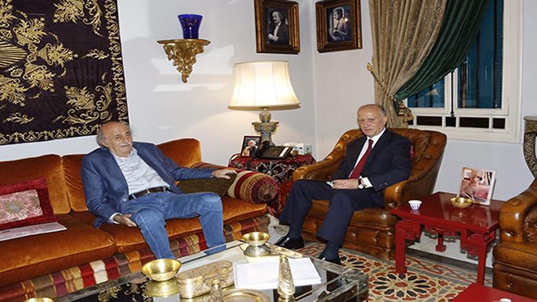 جنبلاط عرض التطورات مع ريفي واستقبل سفير مصر