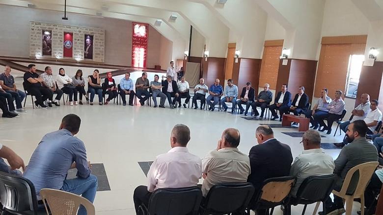"""اجتماع تنسيقي بين """"التقدمي"""" و""""المستقبل"""" في راشيا"""