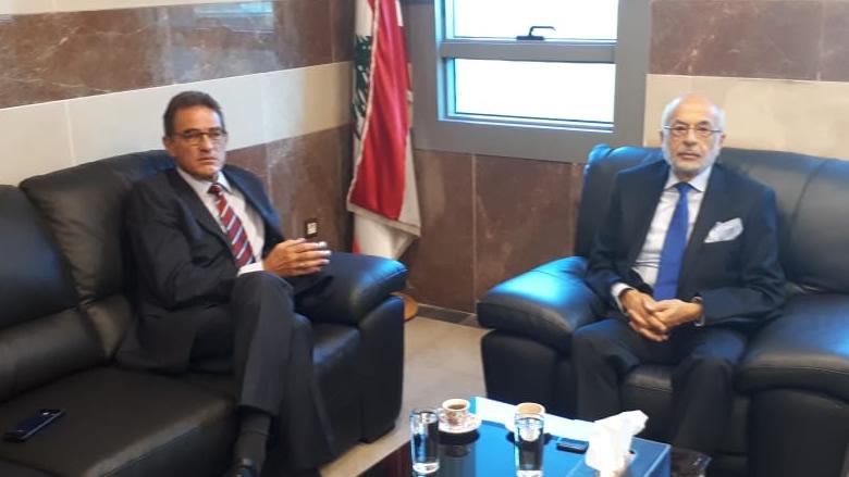 شهيب بحث مع السفير الألماني الوضعين السياسي والتربوي والتقى وفد الجماعة الاسلامية