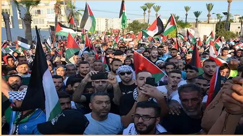 """مسيرة شعبية دفاعاً عن حقوق اللاجئين الفلسطينيين بمشاركة """"التقدمي"""""""