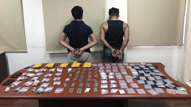 شعبة المعلومات توقف مروجي مخدرات في محلة الطيونة