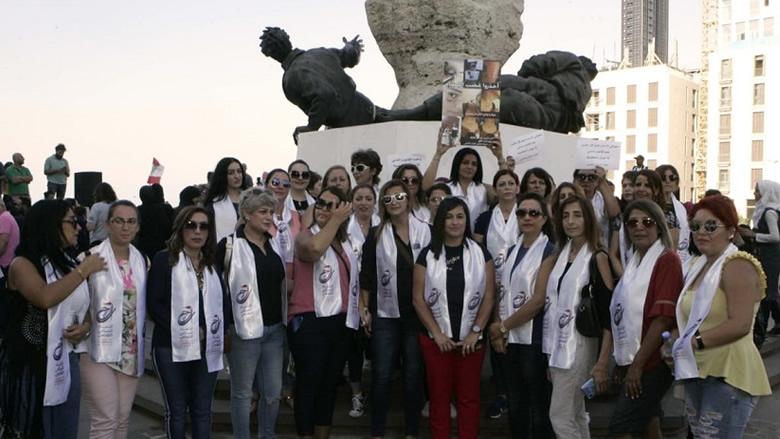 """مشاركة لافتة لـ """"النسائي التقدمي"""" في اعتصام """"إحذورا غضب النساء"""""""