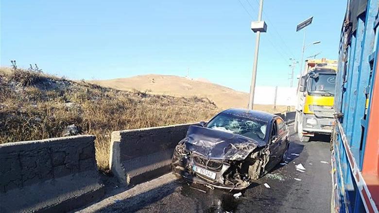 6 جرحى بحادث سير على طريق ضهر البيدر