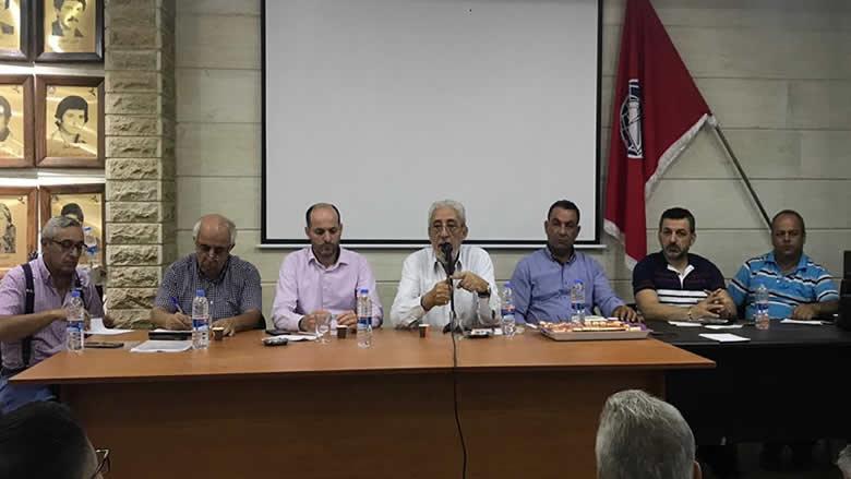 """ناصر الدين في اجتماع لـ""""داخلية الجرد"""": الصراع سياسي وليس طائفيا"""
