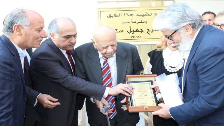 ابو الحسن في حفل  تكريم الشيخ جميل سعيد:  قطار مستشفى الجبل لن يتوقف ما دام فينا عرق ينبض
