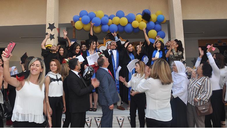 حفل تخرج الطلاب في ثانوية عين زحلتا