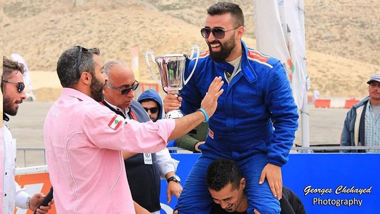 عمر أبو الحسن يفوز بالمركز الثاني في بطولة لبنان للإنجراف