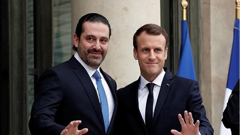 الحريري التقى ماكرون: لبنان ملتزم بالقرار 1701